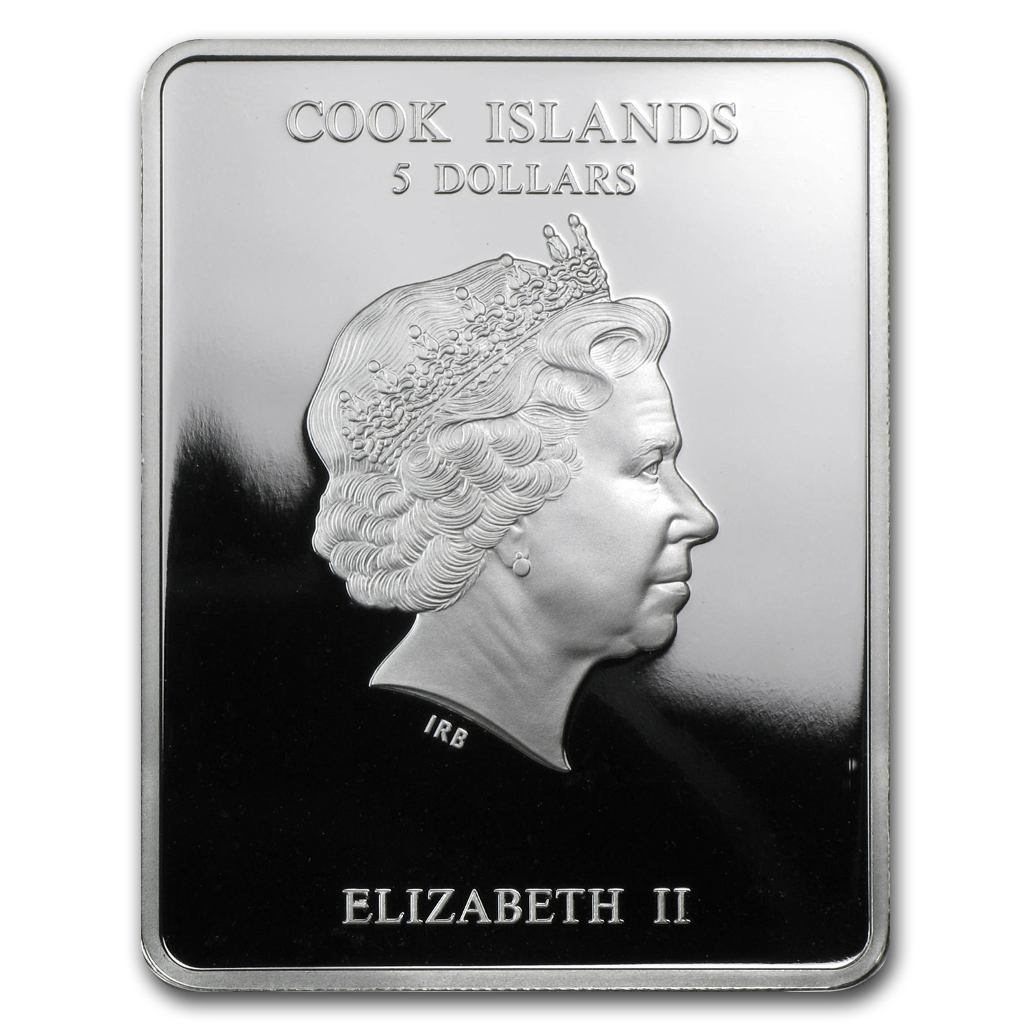 2012 Cook Islands .803 oz Silver $5 Patron Saints St. Valentine